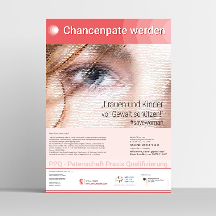 SAVEWOMAN - Plakat auf deutsch