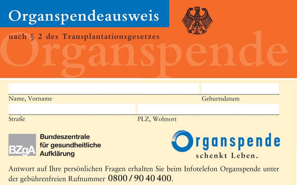 Organspende – Informationsdefizite sind kein Vergehen
