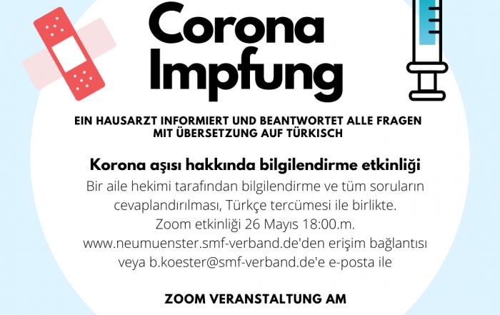 Corona-Impfung: Fragen und Antworten – mit Übersetzung auf Türkisch