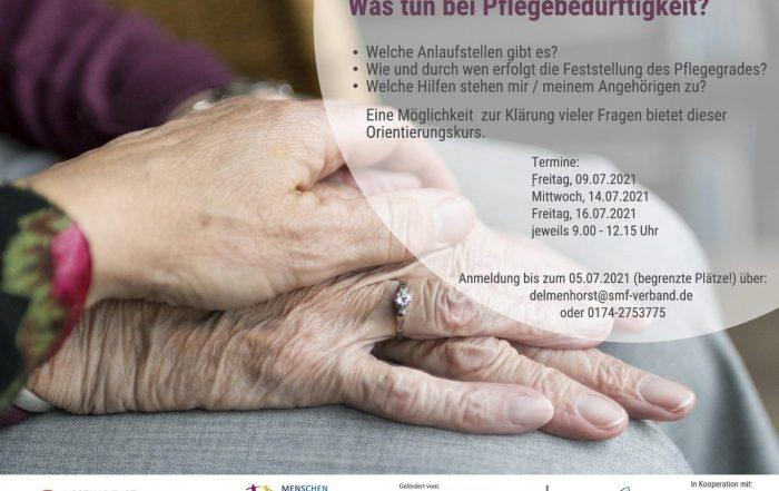 Neue Kursrunde – Pflegekurs: Was tun bei Pflegebedürftigkeit?